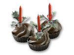 Kerst petit four met kaarsje