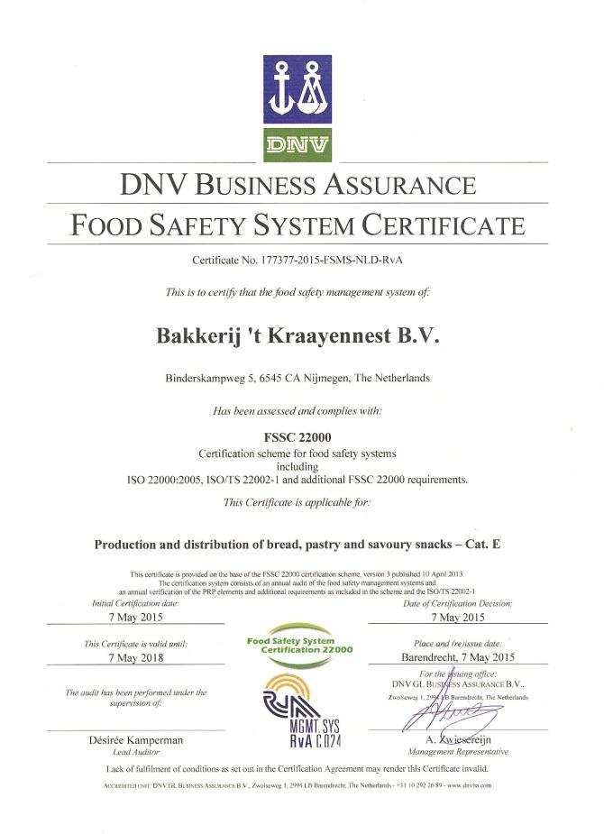 FSSC-22000 Certificaat